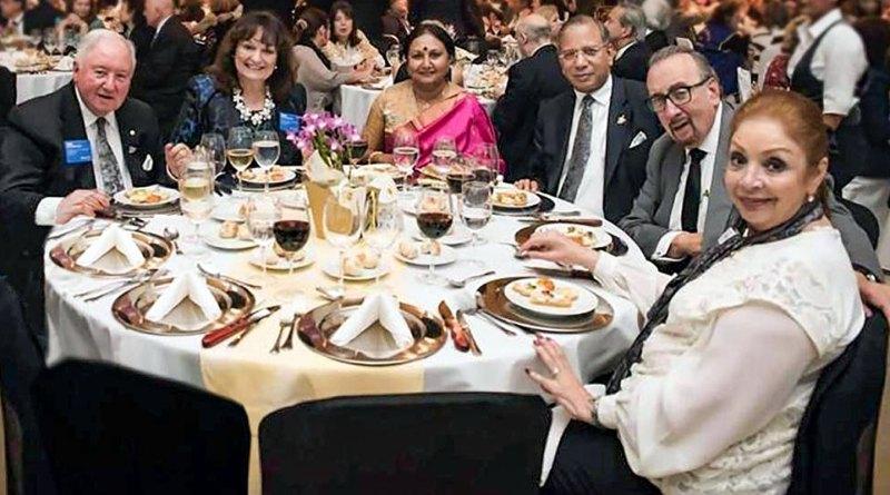 From L: PRIP Luis Giay, Celia, Vanathy and TRF Trustee Chair K R Ravindran, PRIP Frank Devlyn and Gloria Rita.