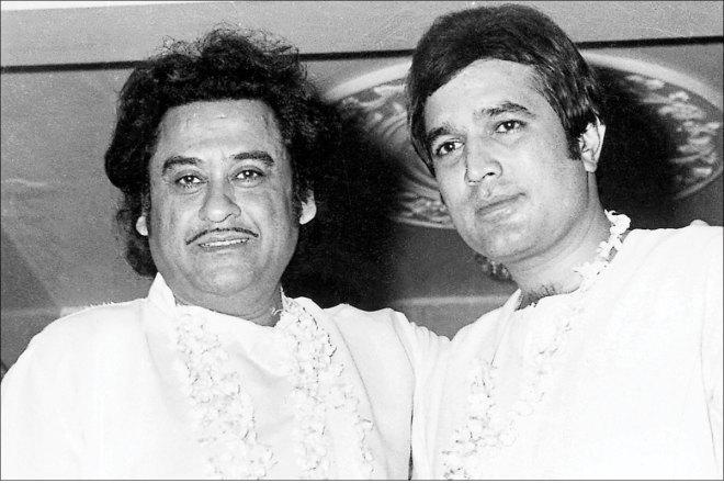 Kishore Kumar with Rajesh Khanna