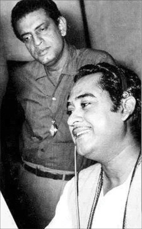 Kishore Kumar with Satyajit Ray