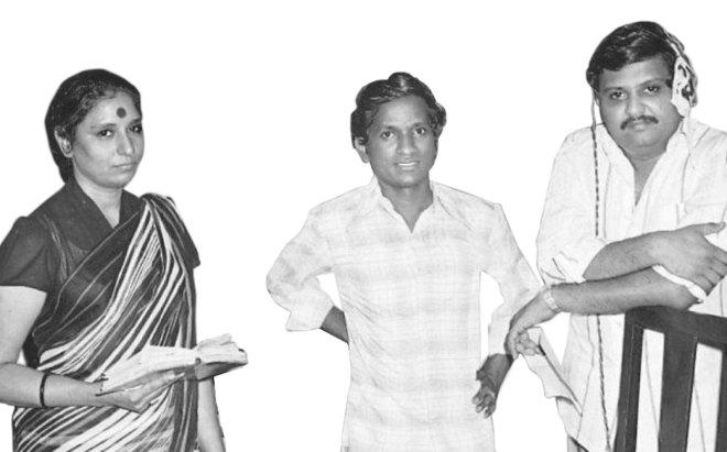 SPB with S Janaki and Ilayaraja.