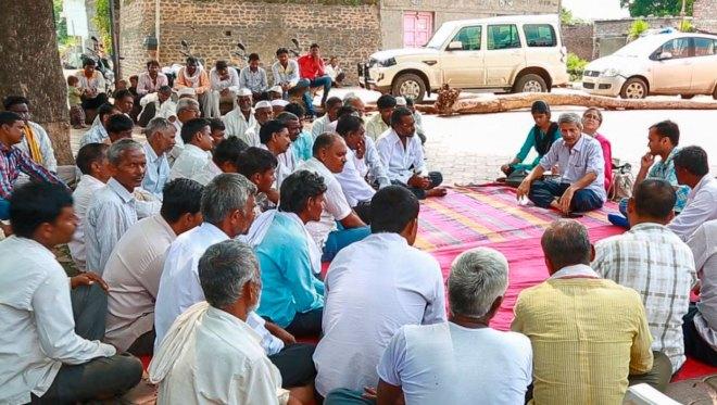 Mayank Gandhi addressing the local community.