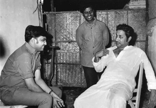 At the recording of a song in Sivaji Ganesan's starrer Sumathi en sundari.