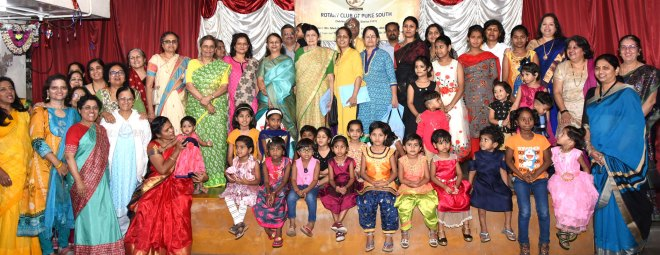 Child beneficiaries of RC Pune South's Suvarnakanya project.