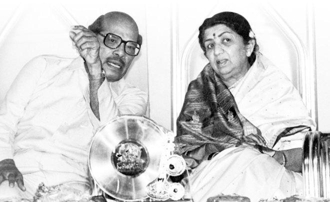 with Lata Mangeshkar.