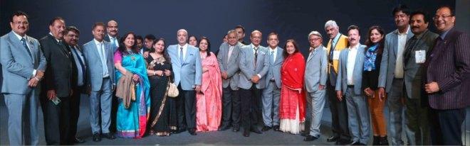 The IA team with RIPE Shekhar Mehta and Rashi, RID Kamal Sanghvi, RIDEs Mahesh Kotbagi and A S Venkatesh at Delhi.