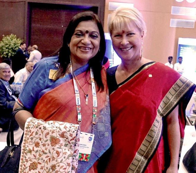RIPN Jennifer Jones (R) with PDG Shyamashree Sen (file photo).