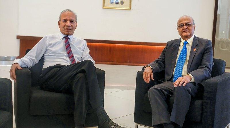 TRF Chair K R Ravindran and Trustee Gulam Vahanvaty