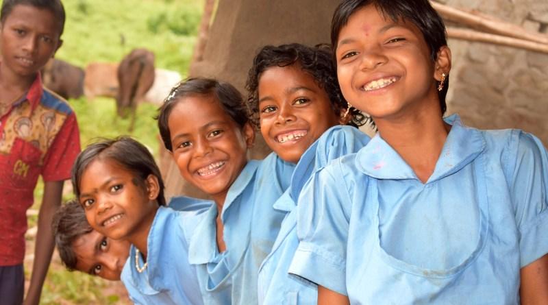 Children at an Asha Kiran Centre in Banspal, Odisha.