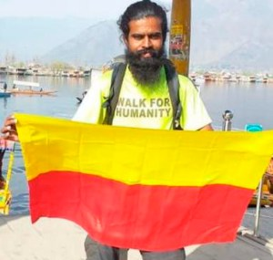 Man walks 4,000km to honour Covid warriors  Bharath PN (33) from Mysuru, decided to pay tribute to the Covid warriors and embarked on a 4,000km-Walk for Humanity to honour their efforts and selfless service. In his 99-day-journey that started from Kanyakumari to Dal Lake in Srinagar, Bharath walked around 45–50km every day covering eleven states. Along the way, he spread awareness on environment protection, importance of planting trees, and being physically fit.