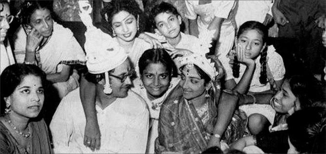Geeta and Guru Dutt on their wedding day.