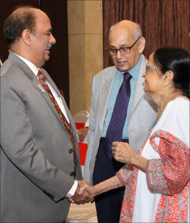 With his mentor PRIP Kalyan Banerjee and Binota.