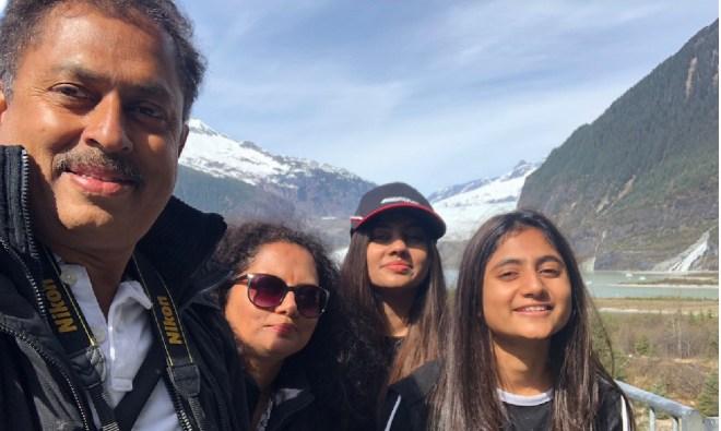 From left: Mahesh Kotbagi, Amita, Chinmayi and Sana.