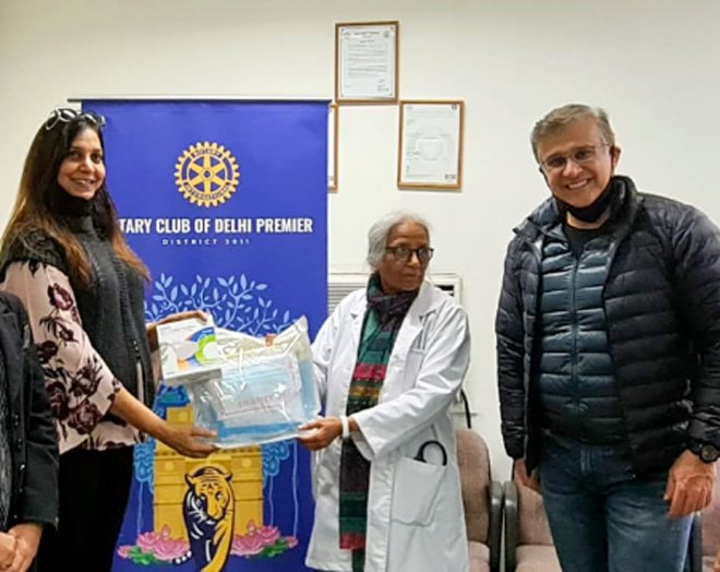 RC Delhi Premier gave 10,000 PPE kits for distribution at government and private hospitals in Delhi.