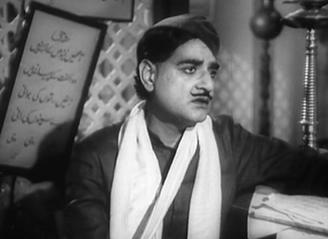Saigal singing Jab dil hi toot gaya in Shah Jahan (1946).