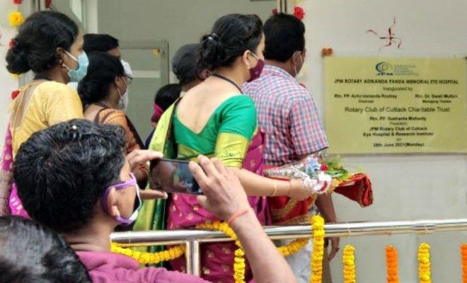Inauguration of the JPM Rotary Eye Hospital at Taliha village.