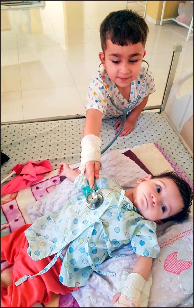 A child from Kurdistan, Iraq, treated at the hospital.