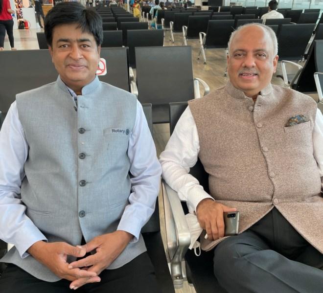 with RID Venkatesh at the Chennai airport.