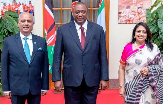 With President of Kenya Uhuru Kenyatta.