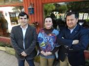 Luis Alberto Cordova, Alejandra Fontanes y Edison Perez