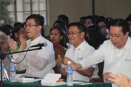 The Rotary Club of Marikina's peace forum.