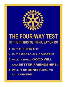 4-Way Test Banner