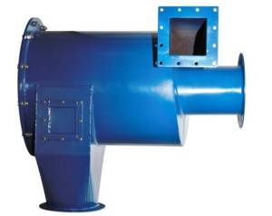 Rotary feeder dust duckbill collector