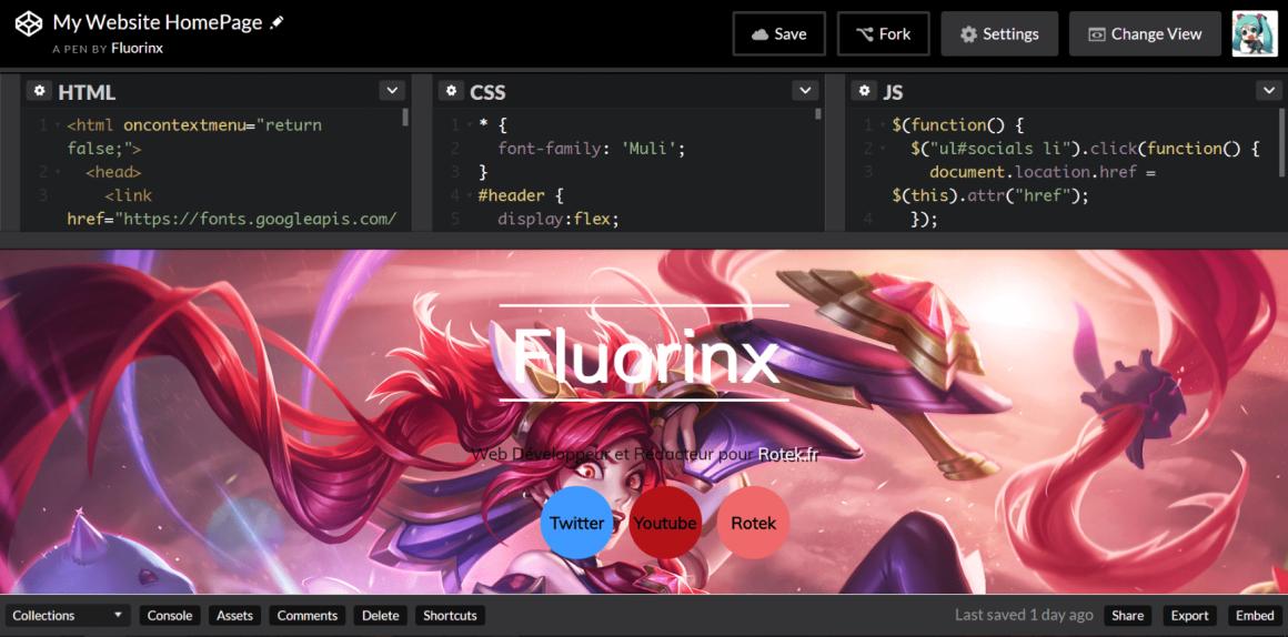 Codepen Interface