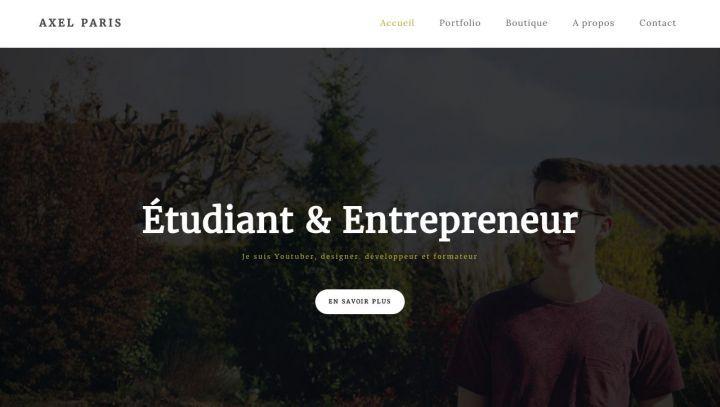 photo site web axel paris entrepreneur