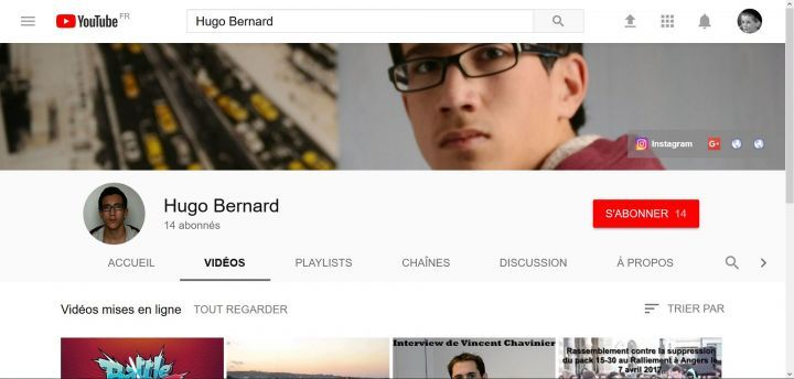 Une chaîne YouTube dans ce nouveau style
