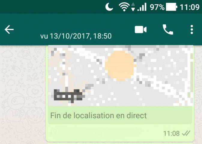 Désactiver la localisation WhatsApp