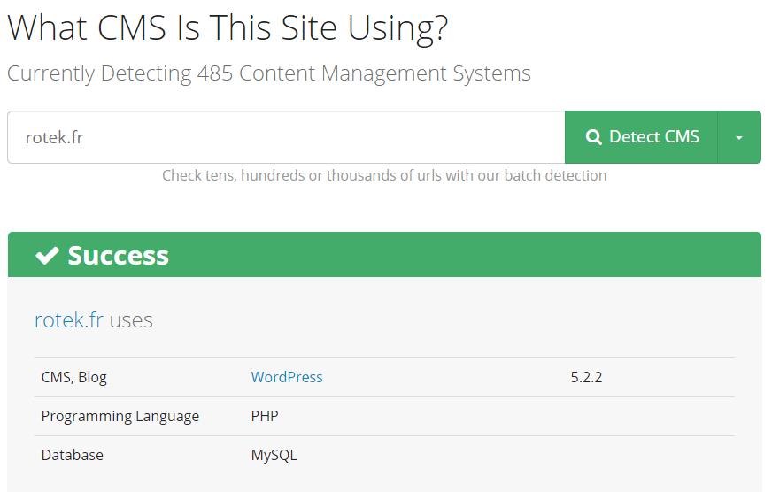 connaître le cms d'un site