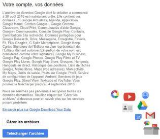 Mail données google