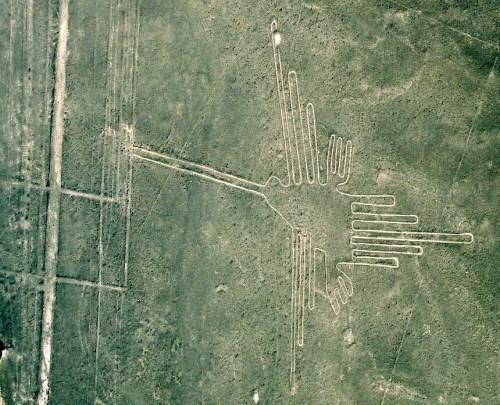 Hummingbird, Nazca Lines, Peru, 2002