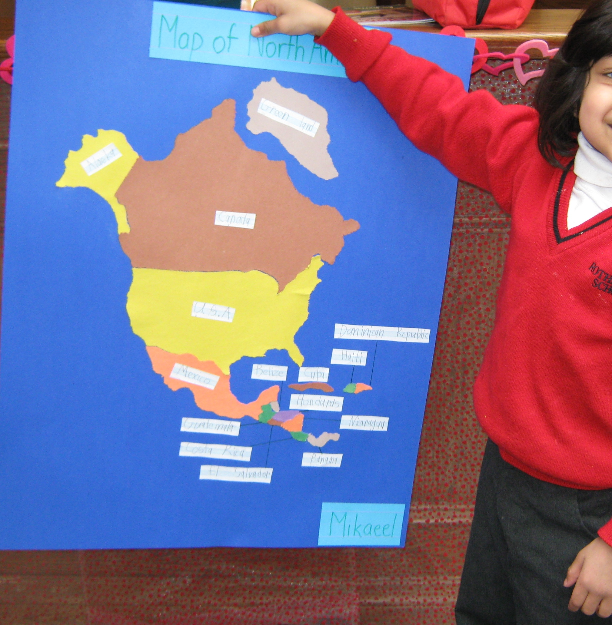 Kindergarten Students Learning About The World