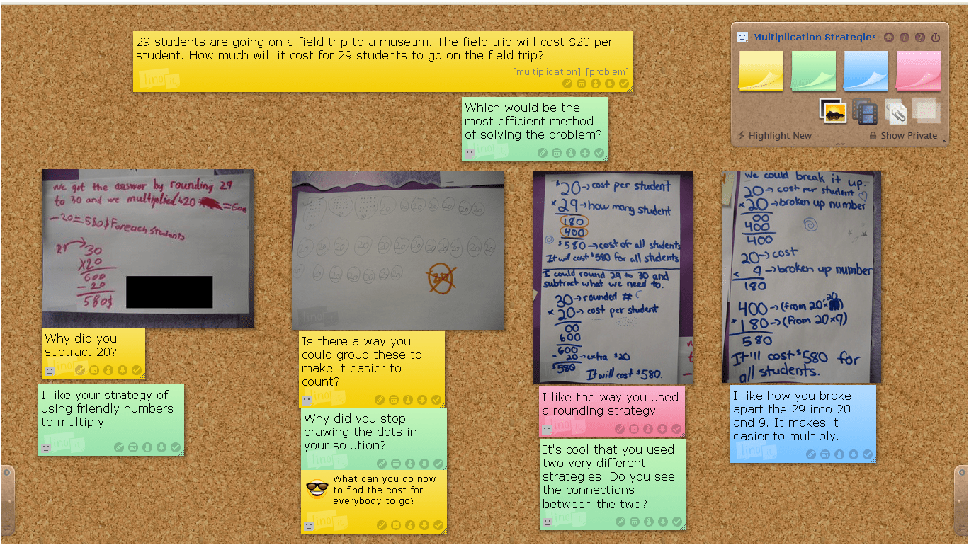 Online Gallery Walk Using Lino It Roflections