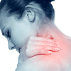 Stiff neck with the need for trigger point therapy.