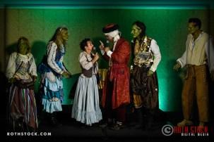 "(L-R) Helene Udy, Alayha Aquarian, Catherine Allison, Roger Fojas, Christiane Georgi and Jason Poston. Perform in the ""Goblin Room"" at the 18th Annual Labyrinth Of Jareth Masquerade Ball"