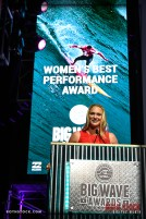 Paige Alms accepts the Women's Best Performance Award