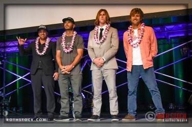(L-R) Dean Morrison, Shane Dorian, Brad Domke and Gabriel Villaran