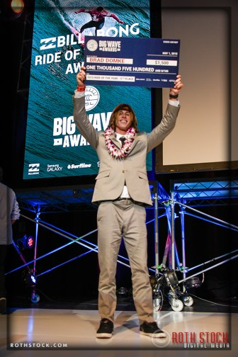 Brad Domke takes 5th place in the Billabong Ride of the Year Award