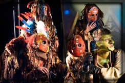 The Zundri: (L-R) Courtney King, Lauren Ashley Serendipity (standing), Rachel Noel (center), Mystery Zundri, and Goblin Justen Asher