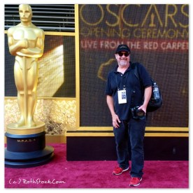 Lee Roth in the arrivals area for the 88th Annual Academy Awards