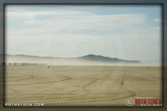The race course at SCTA - Southern California Timing Association's Land Speed Races at El Mirage Dry Lake