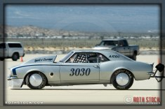 Driver John Lemanski of Hand D Motorsports on his 168.906 mph run at SCTA - Southern California Timing Association's Land Speed Races at El Mirage Dry Lake