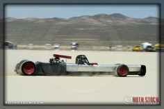 Driver Alan Taylor of Taylor and Watson on his 120.138 mph run at ZSCTA - Southern California Timing Association's Land Speed Races at El Mirage Dry Lake