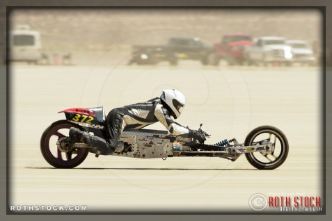 Rider Tim Lewis of Team Bucket 372 on his 65.583 mph run