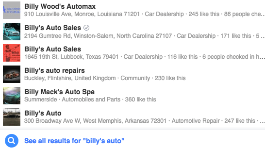 ...Wait, which Billy's Auto is it??