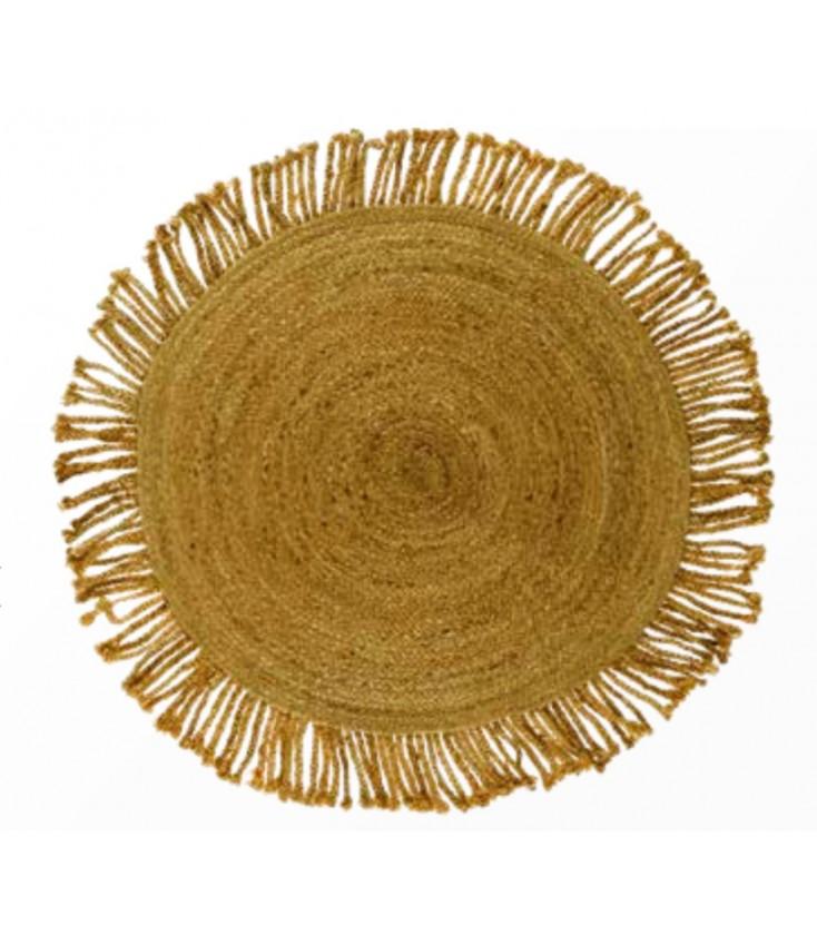 lilo tapis en jute nattes o120cm terracotta