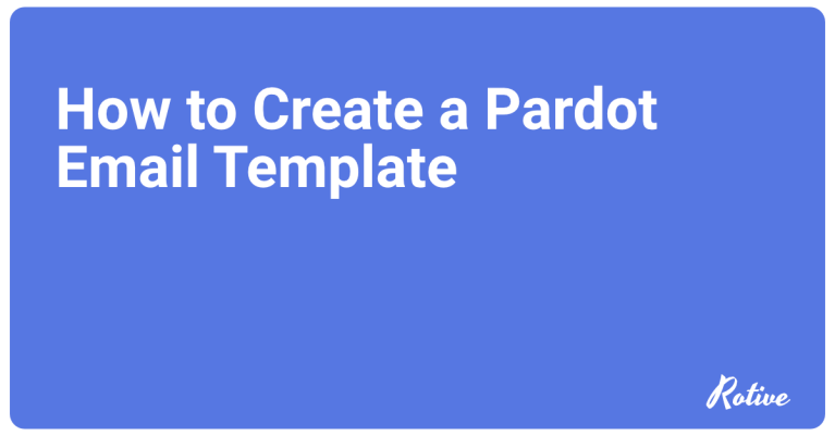 How to Create a Pardot Email Template