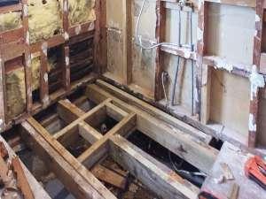 Bathroom Renovation room stripped bare